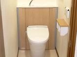 トイレリフォーム段差解消とスッキリ収納トイレ